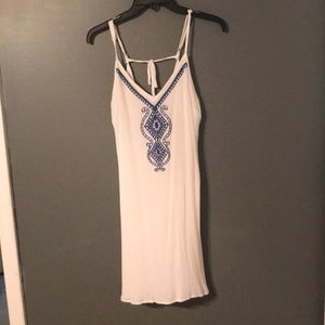 Sundress with blue embroidery